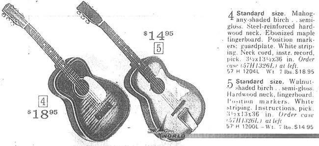 silvertone world - acoustic guitars - 1950s 1960s
