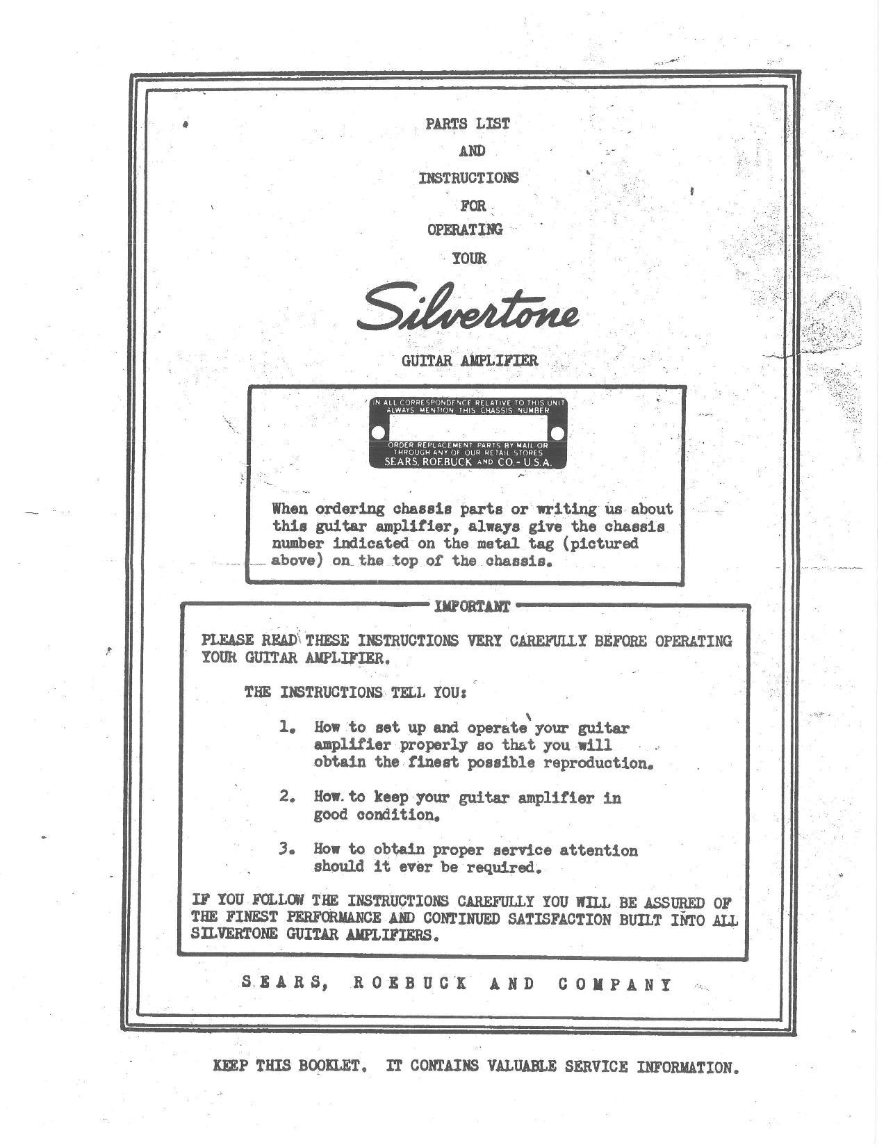 silvertone world amplifiers 1940s model 1306